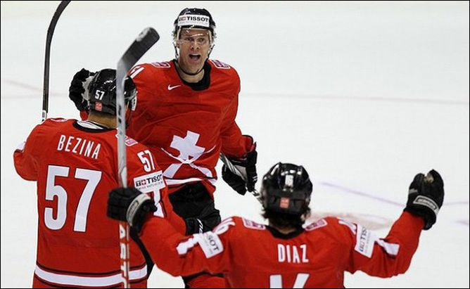 1 мая 2011 года. Кошице. Чемпионат мира. Швейцария — Белоруссия — 4:1