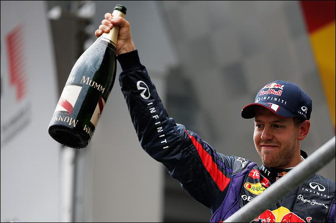 Феттель во второй раз выиграл Гран-при Бельгии