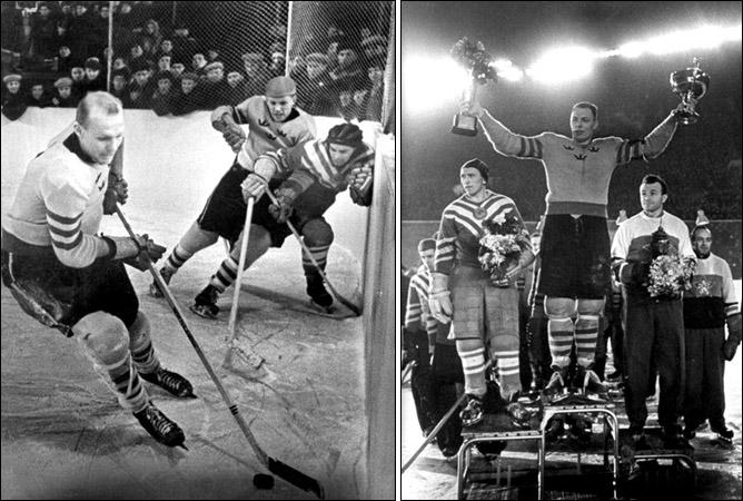 Хоккей. История чемпионатов мира. ЧМ-1955-1962. Фото 04.