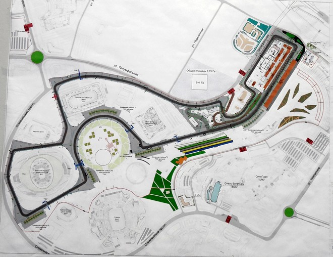Схема «Сочи Автодрома»