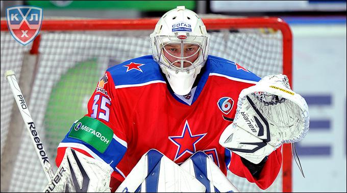 Михаил Бирюков в своём первом матче за ЦСКА