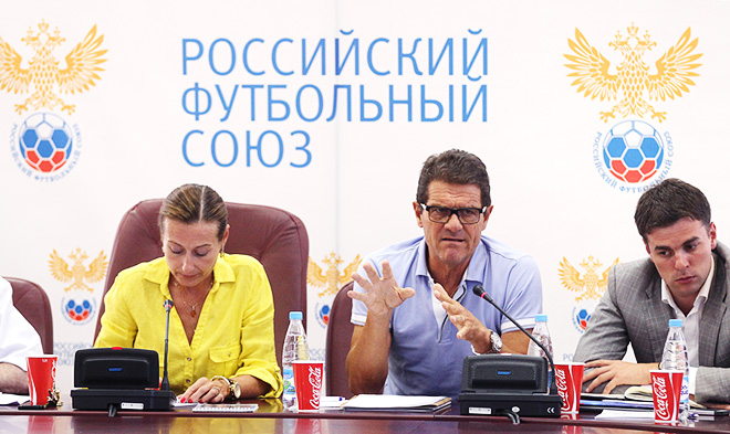 Фабио Капелло на пресс-конференции в РФС