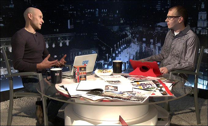 """Алексей Пешнин и Роман Чернявский в программе """"Трибуна"""""""
