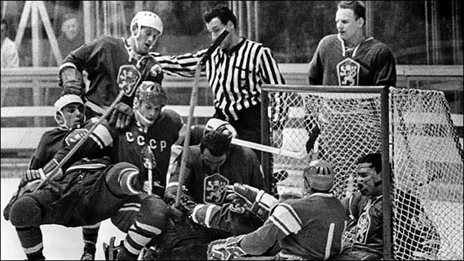 Хоккей. История чемпионатов мира. ЧМ-1963-1972. Фото 05.