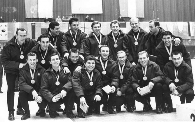 Хоккей. История чемпионатов мира. ЧМ-1963-1972. Фото 06.