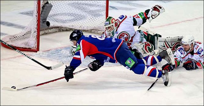 "28 декабря 2010 года. Регулярный чемпионат КХЛ. ""Металлург"" (Магнитогорск) - ""Ак Барс"" - 0:3."