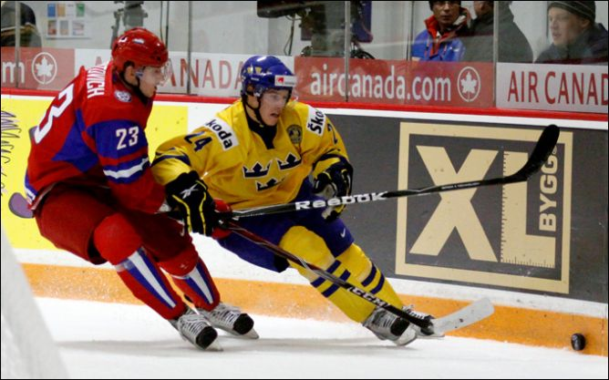 29 декабря 2010 года. Молодежный чемпионат мира. Групповой турнир. Швеция - Россия - 2:0.