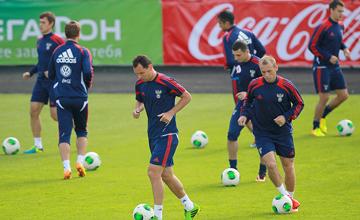 Сборная России готовится к матчу с Люксембургом