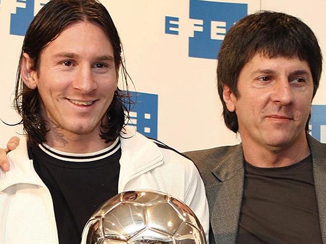Лионель Месси с отцом