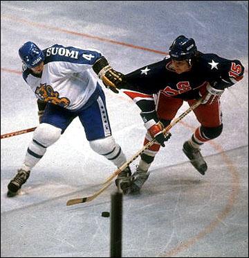 Олимпийская сборная США против сборной Финляндии