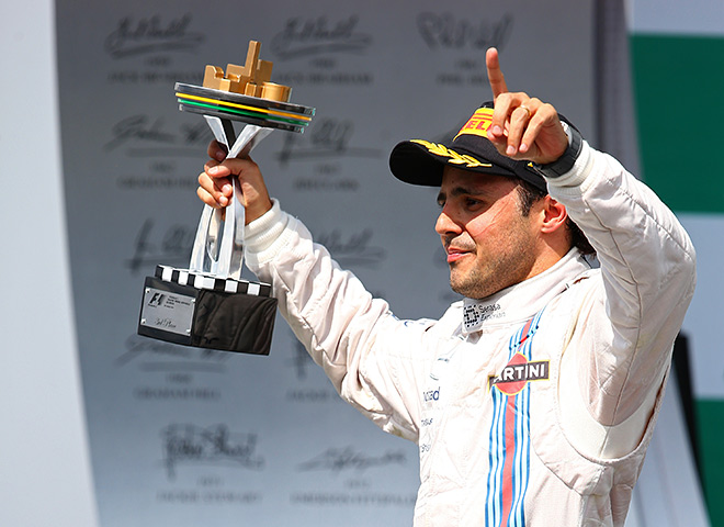 Подиум на Гран-при Бразилии — 2014