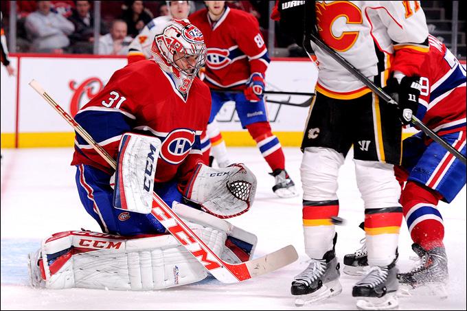 """4 февраля 2014 года. Монреаль. Регулярный чемпионат НХЛ. """"Монреаль"""" — """"Калгари"""" — 2:0. Кэри Прайс"""