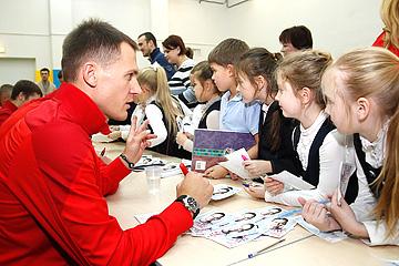 Артём Ребров и дети