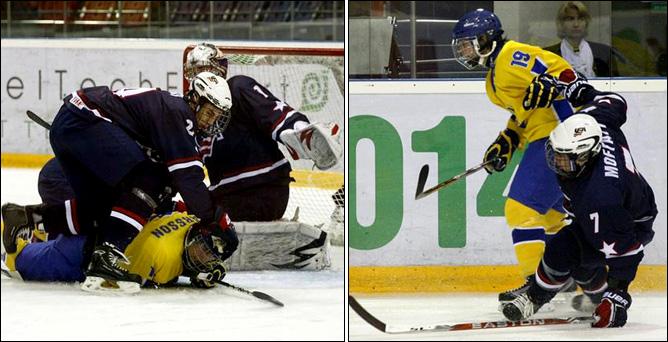 13.04.2010. Хоккей. Чемпионат мира U-18. Швеция - США - 4:2.