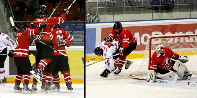 13.04.2010. Хоккей. Чемпионат мира U-18. Канада - Швейцария - 1:3.