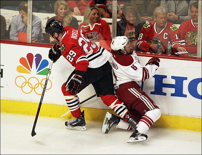 """24 апреля 2012 года. Чикаго. Плей-офф НХЛ. 1/8 финала. """"Чикаго Блэкхоукс"""" — """"Финикс Койотс"""" — 0:4"""