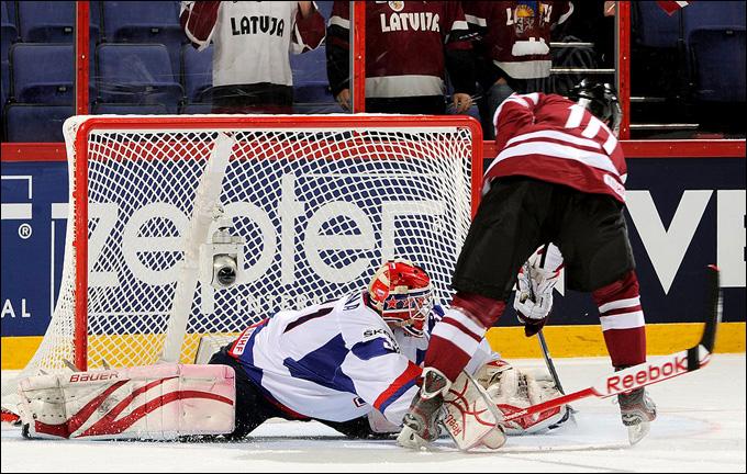 9 мая 2013 года. Хельсинки. Чемпионат мира. Групповой этап. Словакия — Латвия — 3:5