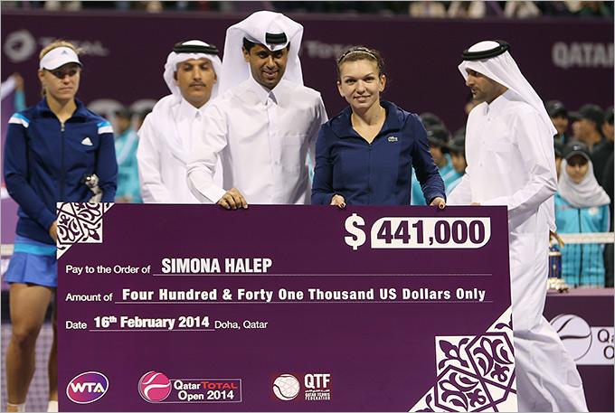Халеп получила главный приз в Дохе