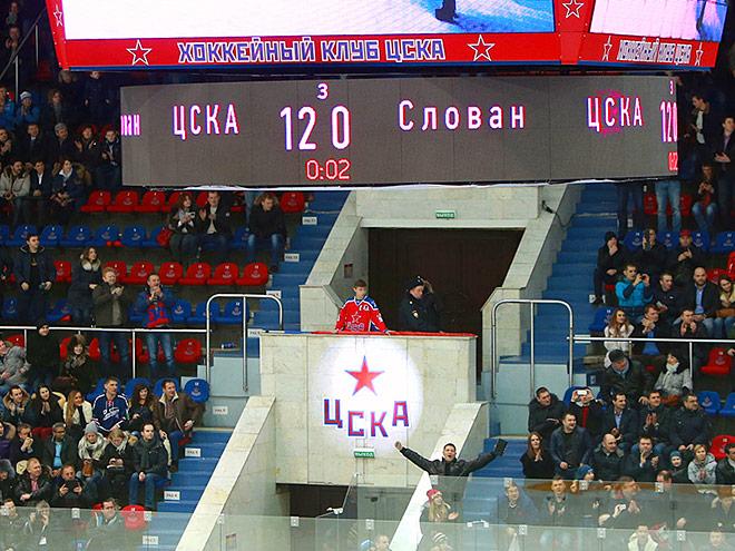 ЦСКА деклассировал «Слован», установив два рекорда КХЛ