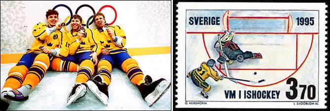 Топ-100 историй ИИХФ. История № 14. Буллит Форсберга приносит Швеции первое золото на ОИ. Фото 03.