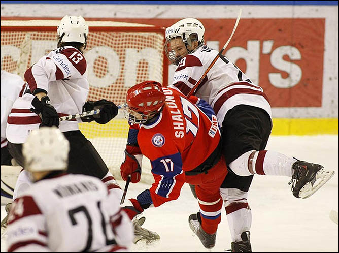 14.04.2010. Чемпионат мира U-18. Россия - Латвия - 9:0. Фото 02.