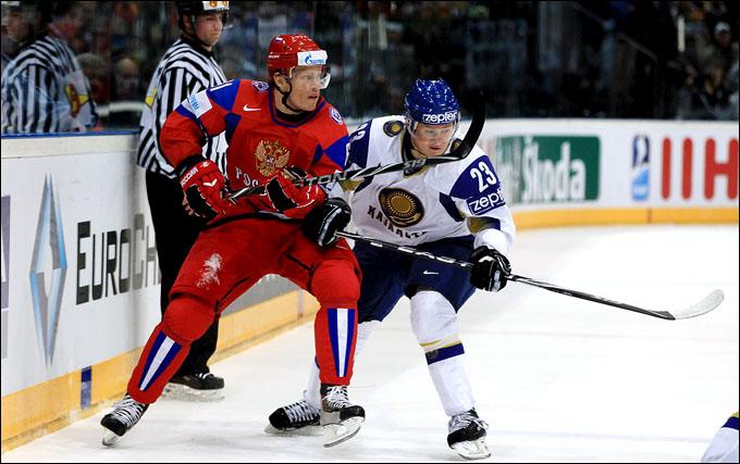 Андрей Спиридонов в матче против сборной России
