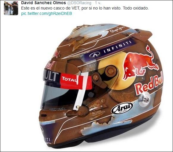 Новый шлем Феттеля. Источник — twitter.com/DSORacing