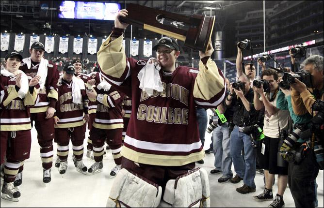 Хоккей. 2010. Бостонский колледж - чемпион NCAA. Фото 07.