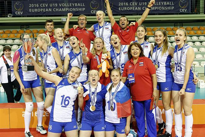 Женская молодежная сборная России по волейболу выиграла золото чемпионата Европы