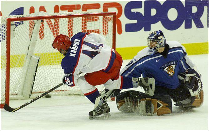 9 мая 2002 года. Гетеборг. Капитан сборной России Валерий Карпов забивает решающий буллит, выведший нашу команду в финал чемпионата мира.
