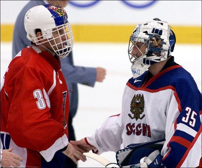 20 февраля 2002 года. Солт-Лейк-Сити. Доминик Гашек и Николай Хабибулин. Одна пропущенная шайба на двоих отправила домой сборную Чехии.