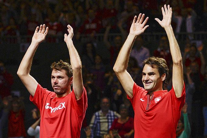 Федерер и Вавринка принесли Швейцарии победу над Казахстаном