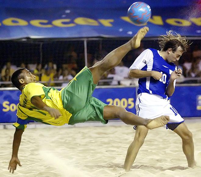 Ромарио в пляжном футболе