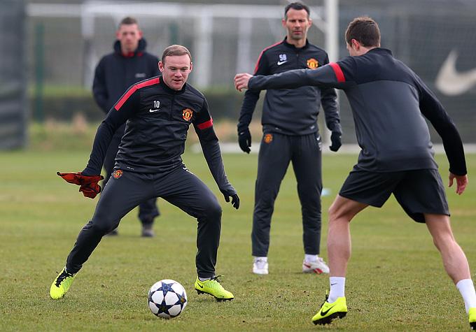 """Тренировка """"Манчестер Юнайтед"""" перед вылетом в Мадрид"""