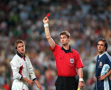 Удаление Дэвида Бекхэма в матче с Аргентиной на ЧМ-1998