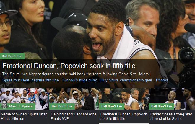 YahooSports!: «Эмоциональный Данкан, плачущий Попович»