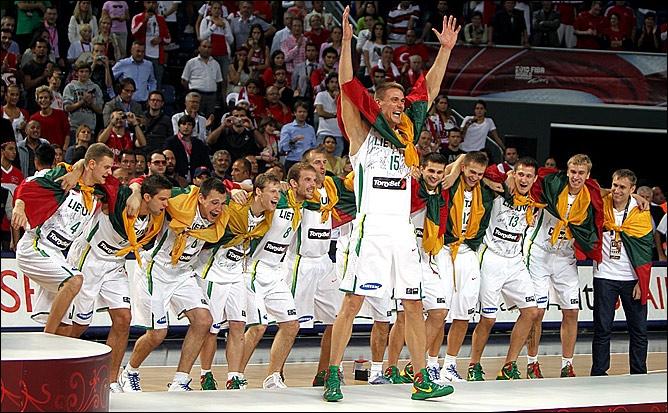 Сборная Литвы по баскетболу - бронзовый призёр чемпионат мира-2010