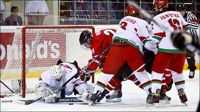 15.04.2010. Чемпионат мира U-18. Белоруссия - Канада - 3:11. Фото 01.
