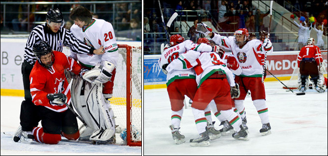 15.04.2010. Чемпионат мира U-18. Белоруссия - Канада - 3:11. Фото 02.