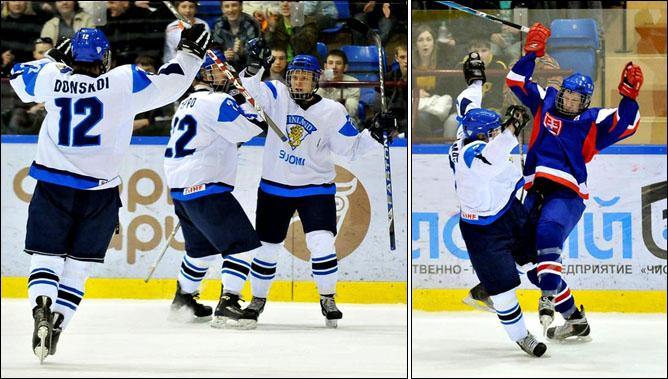 15.04.2010. Чемпионат мира U-18. Словакия - Финляндия - 2:5. Фото 02.