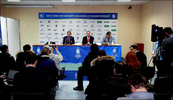 Пресс-конференция главных тренеров после окончания матча Россия — Канада