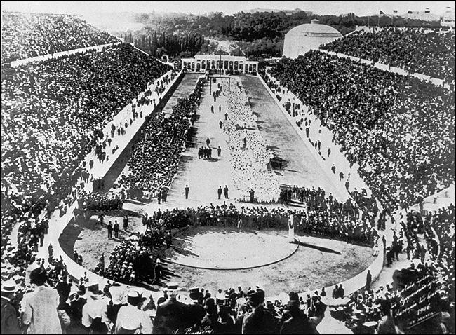 Церемония открытия Олимпиады 1896 года в Афинах