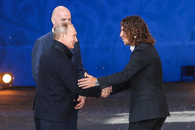 Владимир Путин и Карлес Пуйоль