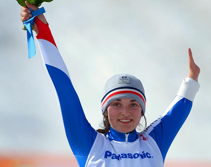 Победная радость Мари Боше, ставшей паралимпийской чемпионкой в горнолыжном спорте