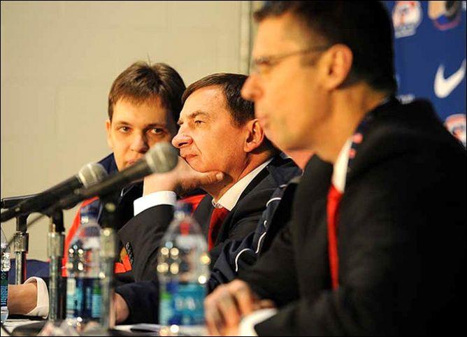 Валерий Брагин на послематчевой пресс-конференции.
