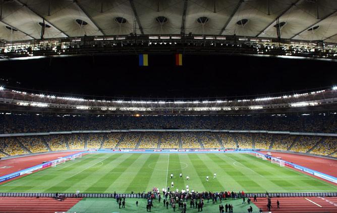 """Первый матч после реконструкции на """"Олимпийском"""" состоялся 11 ноября. Сборная Украины принимала Германию — 3:3"""