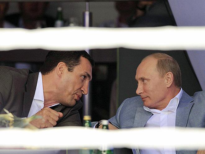 Владимир Кличко и Владимир Путин