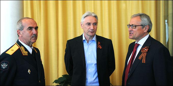 Сборная на приёме в посольстве России в Стокгольме