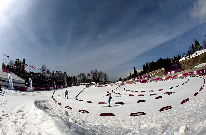 """На стадионе """"Лаура"""" проходят соревнования по паралимпийскому лыжному спорту"""