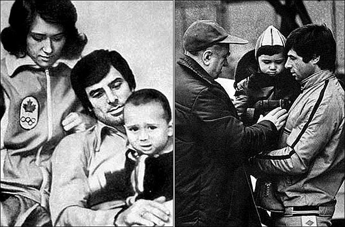 Валерий Харламов с семьёй и с Анатолием Тарасовым